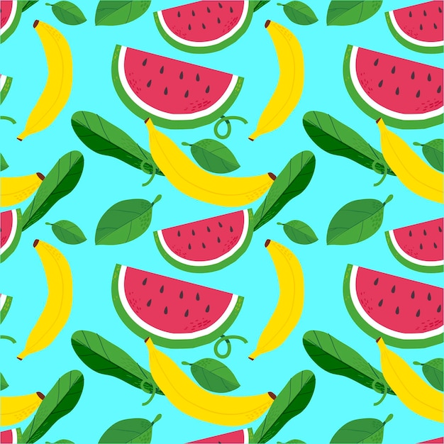 Fruit patroon concept Gratis Vector