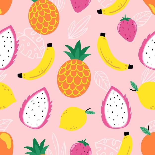 Fruit patroon concept Premium Vector