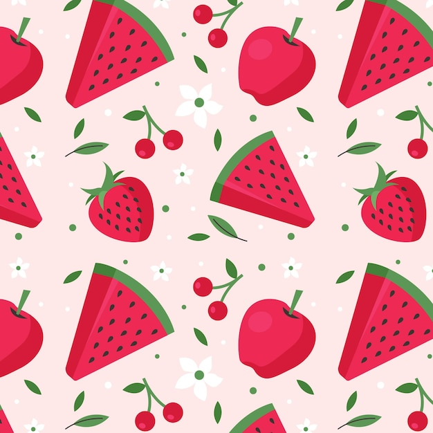 Fruit patroon concept Premium Vector