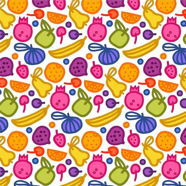 Fruit patroon met bananen Gratis Vector