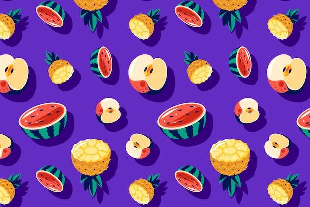 Fruit patroon pack thema Gratis Vector