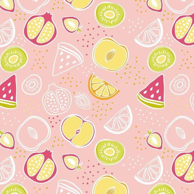Fruit patroon thema Premium Vector