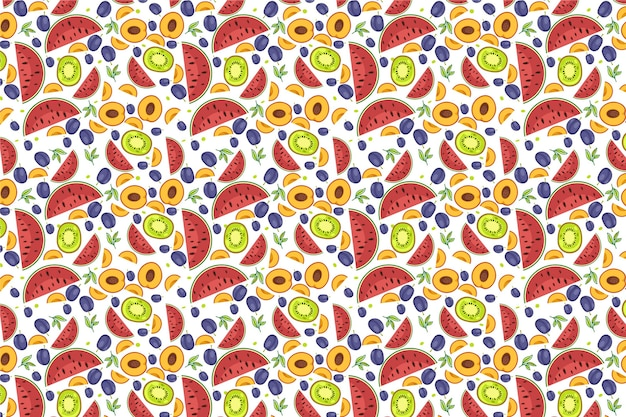 Fruit patroon Gratis Vector