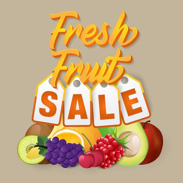 Fruit verkoop moderne sjabloon Premium Vector