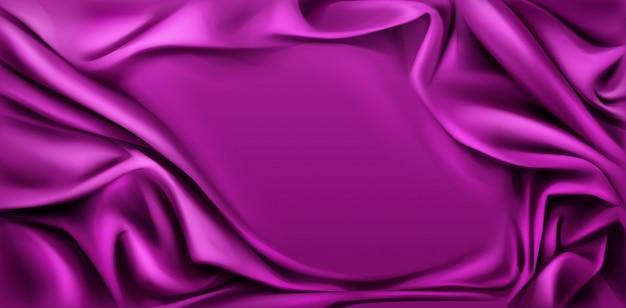 Fuchsiakleurig zijde gedrapeerde stoffenachtergrond. Gratis Vector