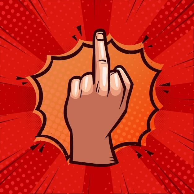 Fuck you symbool in komische stijl Gratis Vector