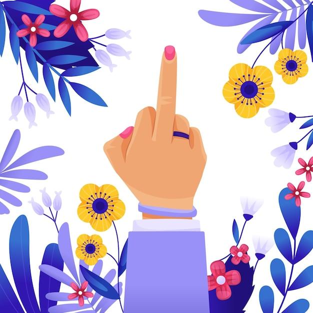Fuck you-symbool in komische stijl Gratis Vector
