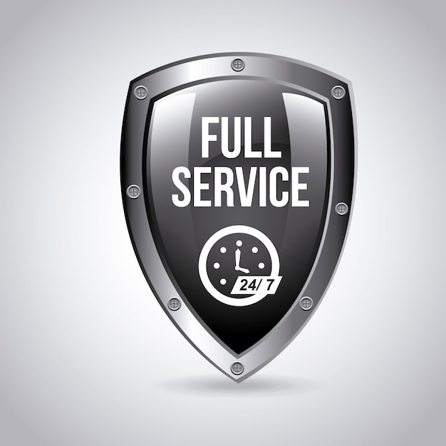 Full-service embleem Gratis Vector