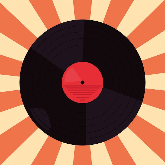 Funk disco vinyl Premium Vector