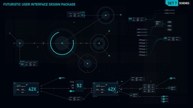 Futuristisch gebruikersinterface-element Premium Vector