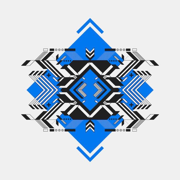 Futuristisch ontwerp op blauwe diamant Gratis Vector