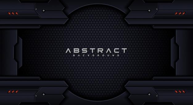 Futuristisch technologie abstract achtergrondontwerpmalplaatje Premium Vector