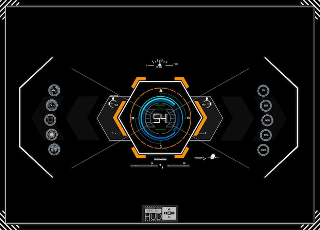 Futuristische blauwe infographics als head-up display. Premium Vector