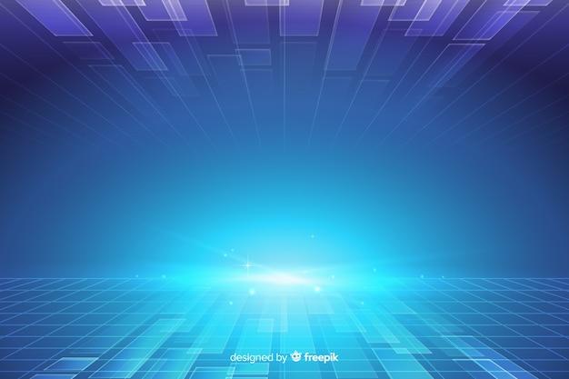 Futuristische horizonachtergrond Gratis Vector