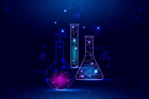 Futuristische science lab achtergrond Gratis Vector