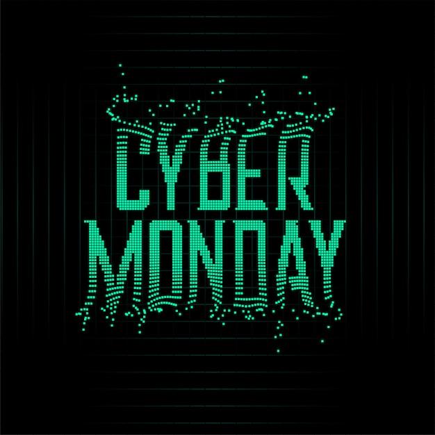 Futuristische stijl cyber maandag deeltjes achtergrond Gratis Vector