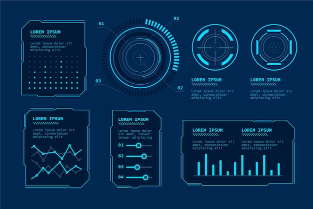 Futuristische technologie infographic Gratis Vector