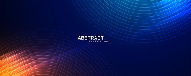 Futuristische technologie lijnen achtergrond met licht effect Gratis Vector