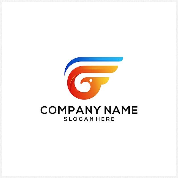 G-logo pictogram kleurrijk Premium Vector