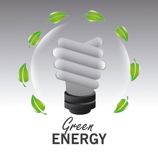 Ga groen ecologieontwerp. Gratis Vector