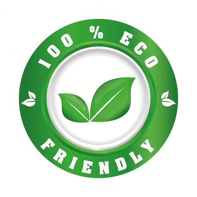 Ga groen ecologisch ontwerp Premium Vector