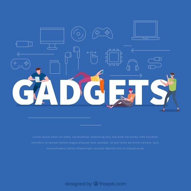 Gadgets woord concept Gratis Vector