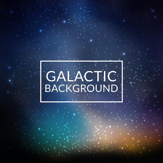 Galactische achtergrond Gratis Vector