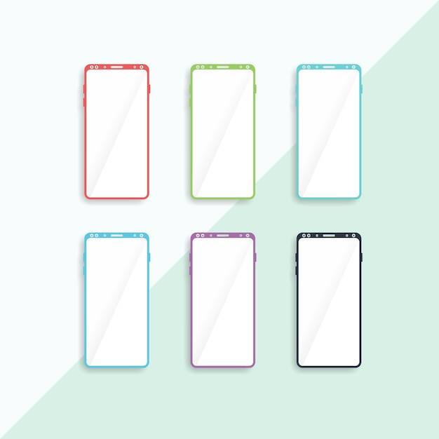 Galaxy 9 mobiele flate vector Premium Vector