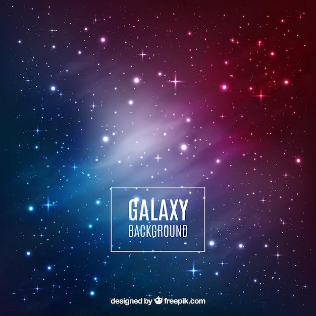 Galaxy achtergrond ontwerp Gratis Vector