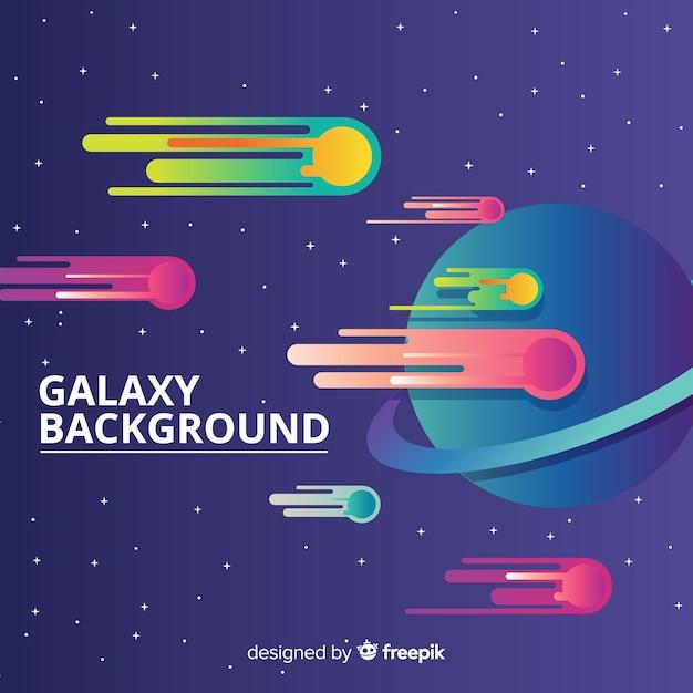 Galaxy achtergrond Gratis Vector