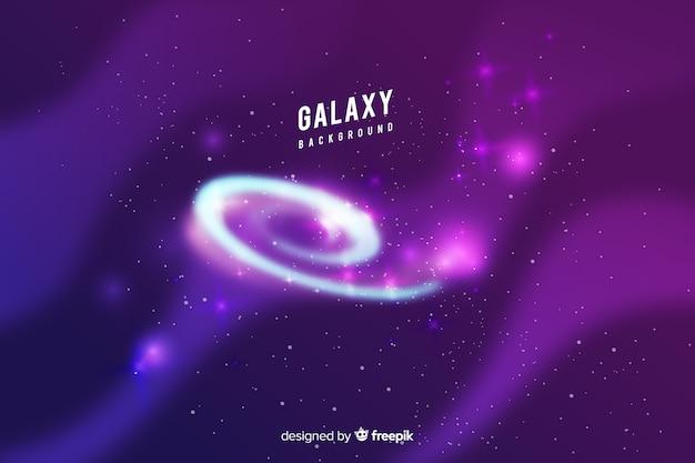 Galaxy achtergrondontwerp Gratis Vector