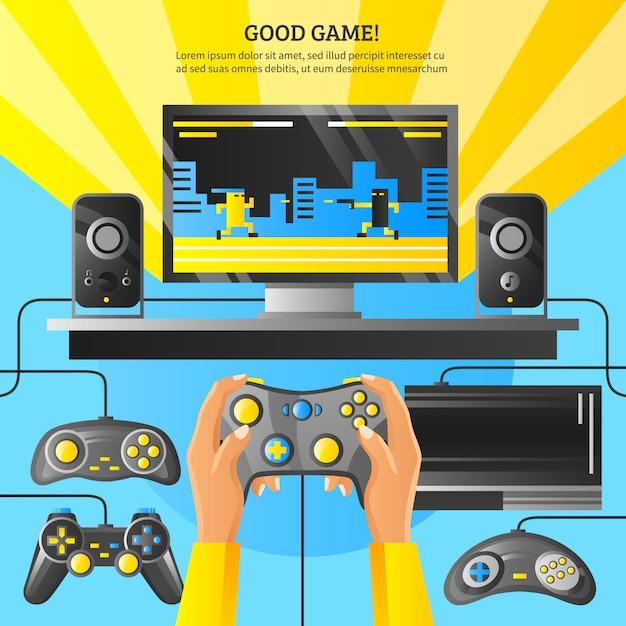 Game gadget illustratie Gratis Vector