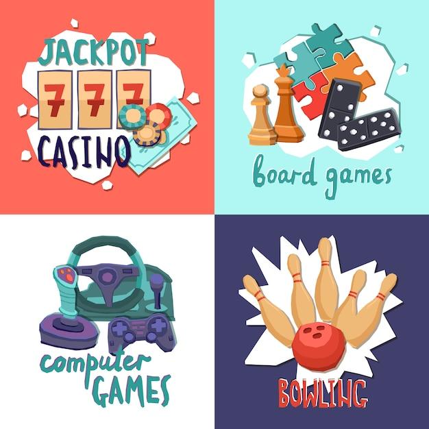 Game ontwerpconcept Gratis Vector