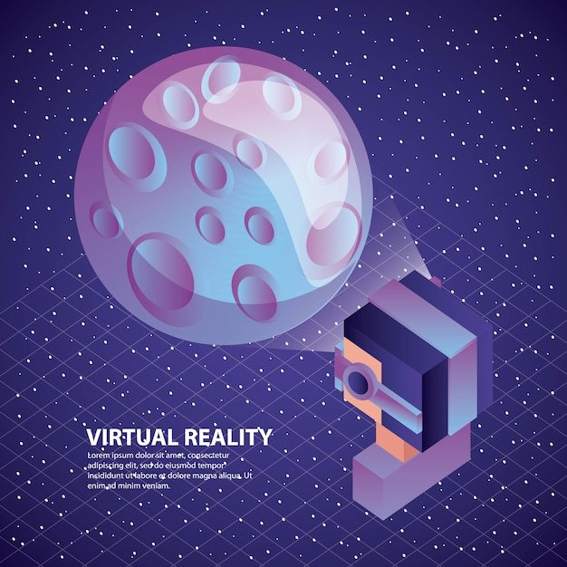 Gamer met behulp van virtual reality-bril Premium Vector