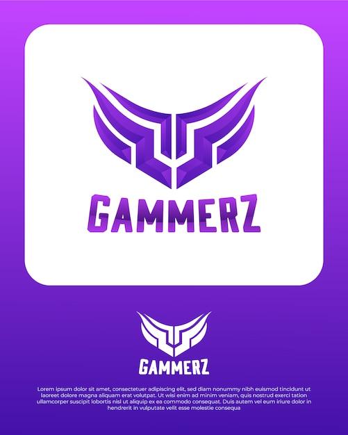 Gaming abstract logo ontwerpsjabloon Premium Vector