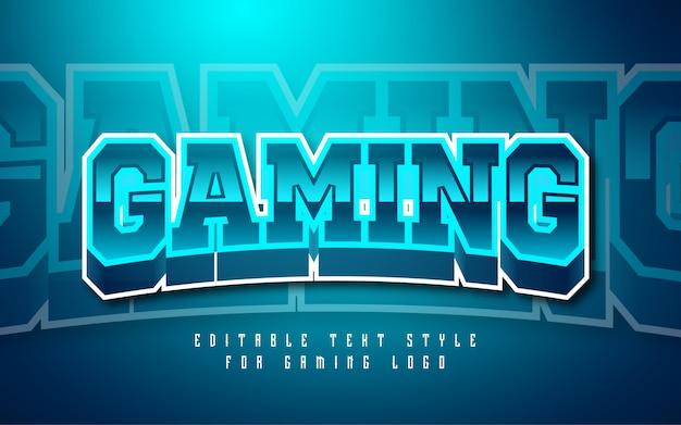 Gaming logo tekststijleffect Premium Vector