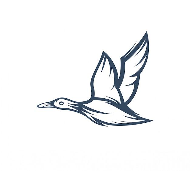 Gans logo sjabloon vectorillustratie Premium Vector