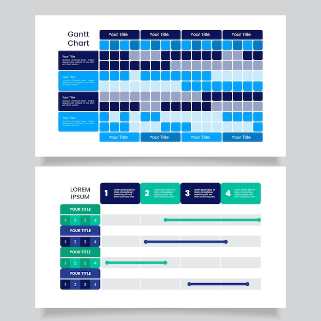 Gantt-diagram in plat ontwerp Gratis Vector