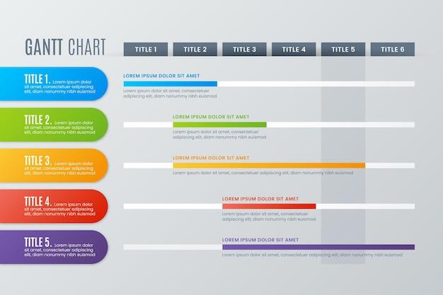 Gantt-diagram infographic Gratis Vector