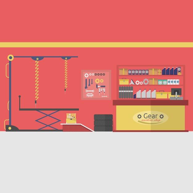 Garage achtergrond ontwerp Gratis Vector