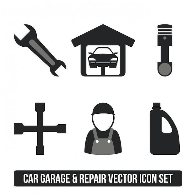 Garage ontwerp Premium Vector