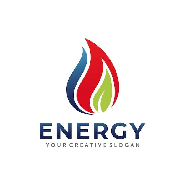 Gas en olie logo ontwerp Premium Vector
