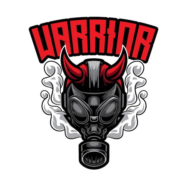 Gas man warrior esport-logo Premium Vector
