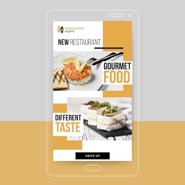 Gastronomisch eten instagram-verhaal Gratis Vector