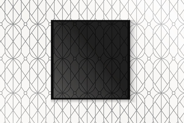 Gatsby patroon frame Gratis Vector