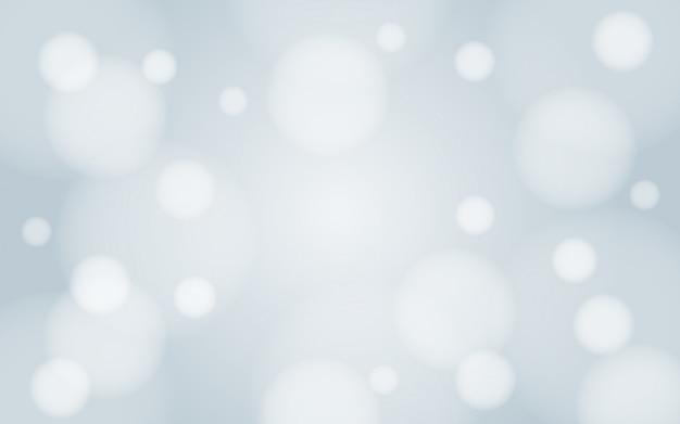 Gaussiaanse vervagen witte sneeuw van winter bokeh achtergrond behang vector ontwerp Premium Vector