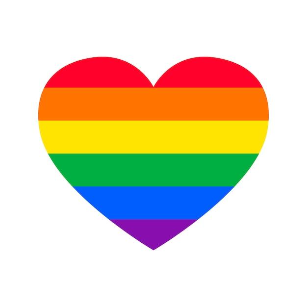 Gay pride flat in hartvorm Gratis Vector