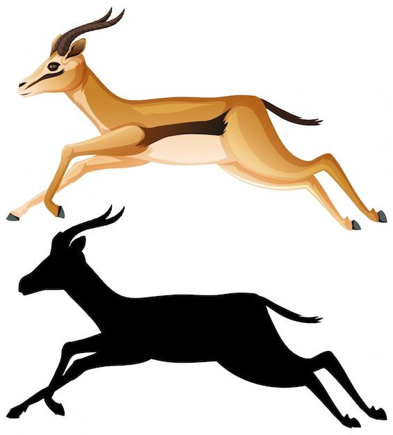 Gazelle stripfiguur Gratis Vector