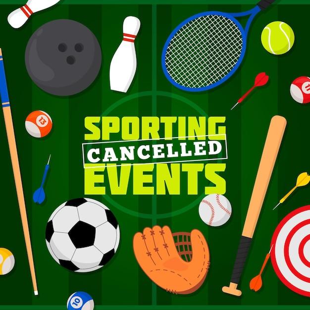 Geannuleerde sportevenementenachtergrond Gratis Vector