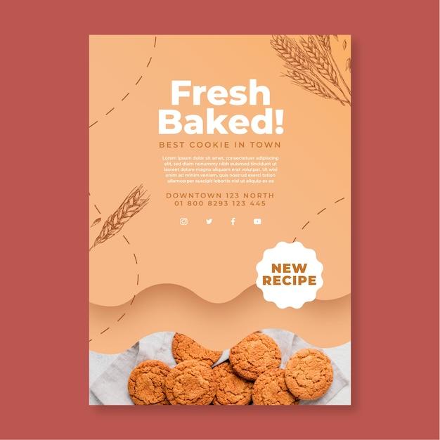 Gebakken koekjes sjabloon folder Gratis Vector